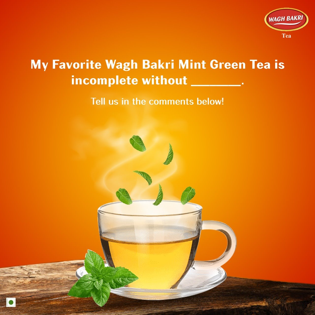 A rejuvenating cup of Wagh Bakri Mint Green Tea